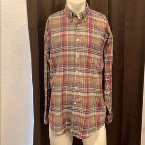 Brooks Brothers Cotton Plaid Button Down Shirt